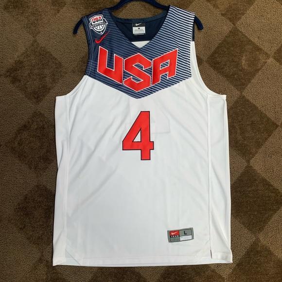 new concept e04d6 5bb56 Stephen Curry Nike Team USA Home Jersey